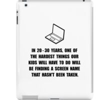 Kids Screen Name iPad Case/Skin