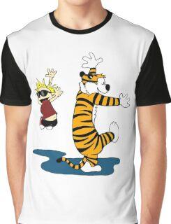 Calvin & Hobbes Dance Graphic T-Shirt