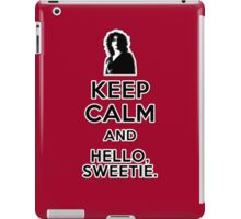 Keep Calm and Hello Sweetie iPad Case/Skin