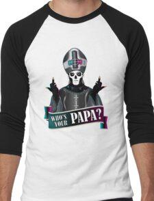 WHO'S YOUR PAPA? - papa 3 Men's Baseball ¾ T-Shirt