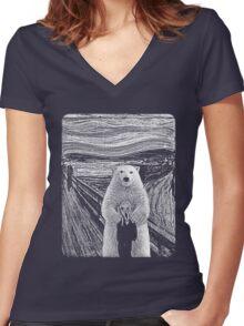 bear factor Women's Fitted V-Neck T-Shirt