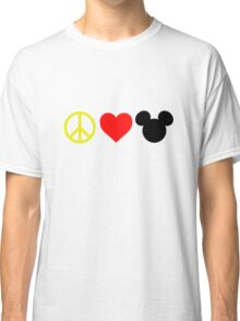 Peace, Love, Mickey Classic T-Shirt