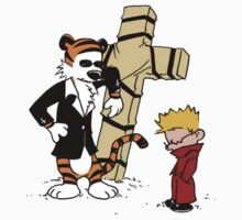 calvin and hobbes Funny Kids Tee
