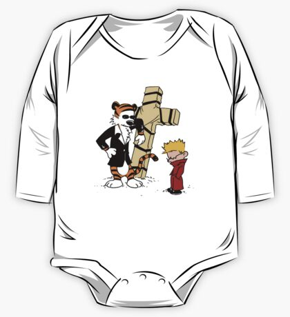 calvin and hobbes Funny One Piece - Long Sleeve