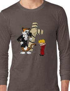 calvin and hobbes Funny Long Sleeve T-Shirt