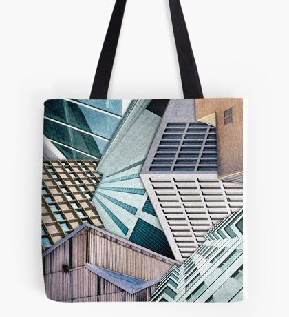 City Buildings Abstract Tote Bag