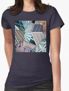 City Buildings Abstract Womens Fitted T-Shirt