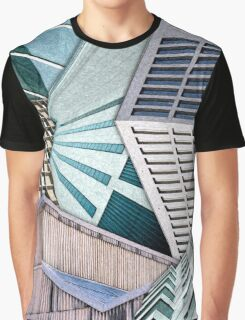 City Buildings Abstract Graphic T-Shirt
