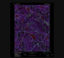 USGS TOPO Map Connecticut CT Montville 330676 1983 24000 Inverted Unisex T-Shirt