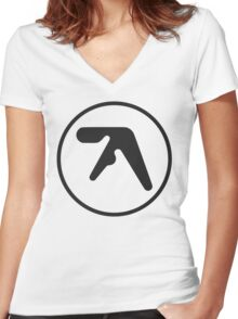 Aphex Twin LOGO Women's Fitted V-Neck T-Shirt