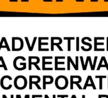 Greenwash Warning Sticker