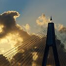 Anzac bridge; late afternoon. by ronsphotos