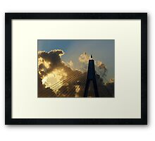 Anzac bridge; late afternoon. Framed Print