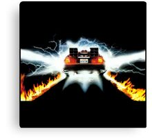 DeLorean Ready To Go Canvas Print
