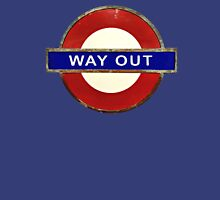 TUBE WAY OUT Womens Fitted T-Shirt