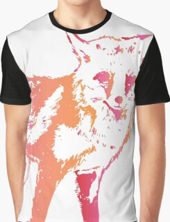 Colorful Wolf Graphic T-Shirt