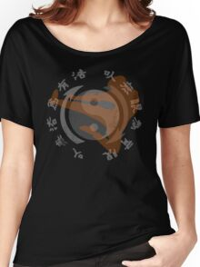 Jeet Kune Do Kung Fu Emblem & Silhouette  Women's Relaxed Fit T-Shirt