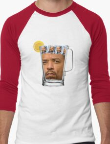 Ice(d) T(ea) with some Ice Cube(s) Men's Baseball ¾ T-Shirt