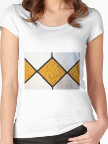 Vinage Stained Glass Women's Fitted Scoop T-Shirt