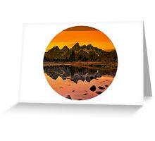 suntan mountains Greeting Card