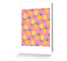 Pineapple Frenzy Pattern Greeting Card