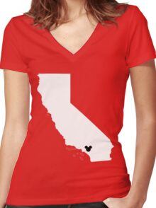 Home Is Where The Land Is Women's Fitted V-Neck T-Shirt