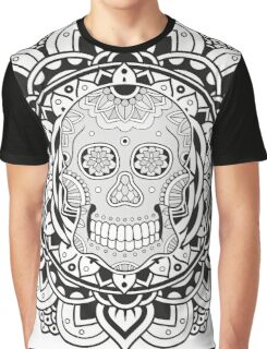 Mandala Skull Graphic T-Shirt