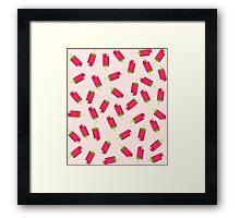 Watermelon Ice Pops Framed Print