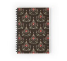 Seamless beautiful antique pattern ornament. Geometric background design, repeating texture. Spiral Notebook