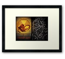 Forecast: worming up. Trump 2016. Framed Print