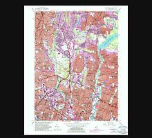 USGS TOPO Map New Jersey NJ Hackensack 254434 1955 24000 Unisex T-Shirt