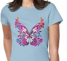Colorful Butterfly by stlgirlygirl Womens Fitted T-Shirt