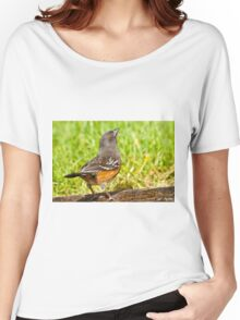 Spotted Towhee Looking Up Women's Relaxed Fit T-Shirt