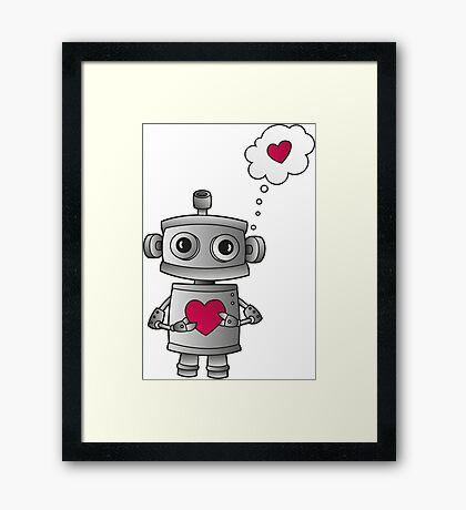 Valentine Robot Framed Print