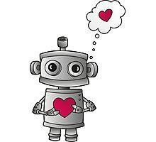 Valentine Robot Photographic Print