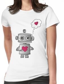 Valentine Robot Womens Fitted T-Shirt