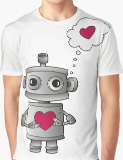 Valentine Robot Graphic T-Shirt