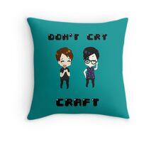 Chibi Don't Cry, Craft Throw Pillow