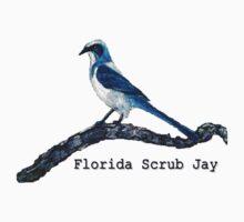 Florida Scrub Jay Tee by Robin Monroe