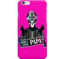 WHO'S YOUR PAPA? - papa 3 flippin' the bird-magenta iPhone Case/Skin