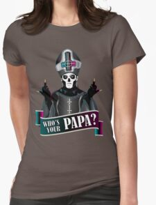 WHO'S YOUR PAPA? - papa 3 flippin' the bird-magenta Womens Fitted T-Shirt