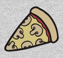 Mushroom Pizza Pattern Kids Tee