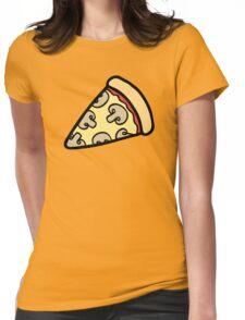 Mushroom Pizza Pattern Womens Fitted T-Shirt