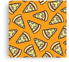 Mushroom Pizza Pattern Canvas Print