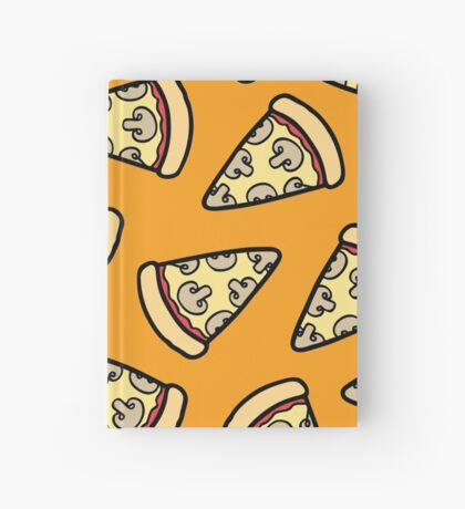 Mushroom Pizza Pattern Hardcover Journal