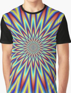 Red Blue and Yellow Supernova Graphic T-Shirt