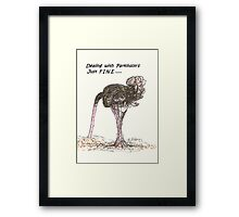 Dealing With Parkinson's Just Fine Framed Print