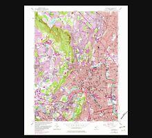 USGS TOPO Map New Jersey NJ Paterson 254695 1955 24000 Unisex T-Shirt