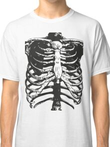Skeleton Ribs | Black & White Classic T-Shirt