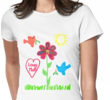 Summer scene Womens Fitted T-Shirt